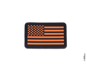 Patch PVC Drapeau USA (Orange)