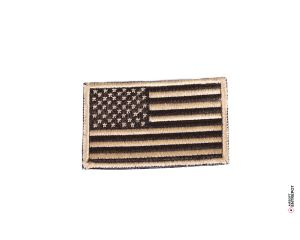 Patch Brodé Drapeau USA (Tan)