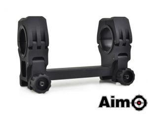 Aim-O Montage QD pour Lunettes 25/30mm avec Niveau à Bulle (BK)