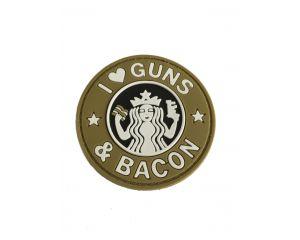 Patch I Love Guns & Bacon (TAN)