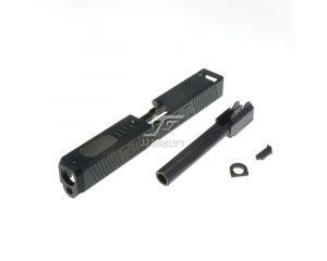 JJ Airsoft Culasse et Canon Externe Type 3 pour G17 Marui (BK)