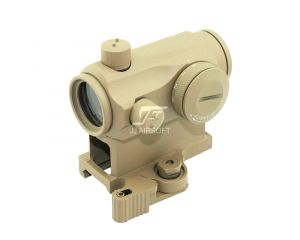 JJ Airsoft Red Dot Micro T1 Montage Haut (Tan)
