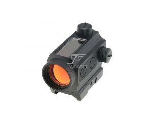 JJ Airsoft Red Dot Type Micro T1 Solaire Montage Haut & Bas - Noir