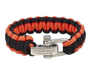 Pentagon Bracelet Paracorde (Rouge / Noir)