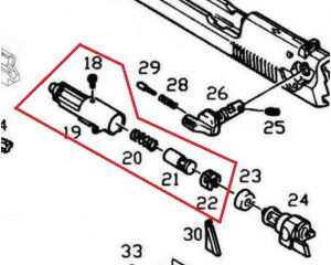 KJW Nozzle Complet pour M9