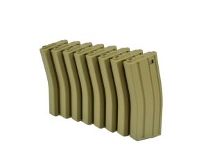MAG Boite de 8 Chargeurs Mid-Cap 130BBs M4/M16 (Tan)