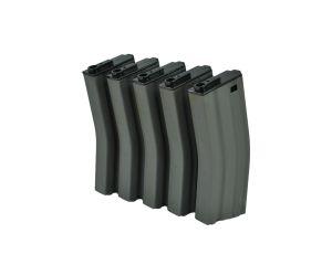 MAG Boite de 5 Chargeurs Mid-Cap 190BBs pour M4/M16