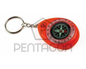 Pentagon Porte-Clefs Boussole Waterproof Orange