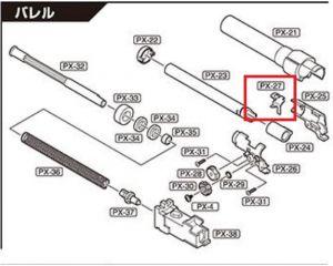 Tokyo Marui Levier d'Appui Hop-Up PX4 GBB