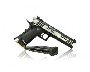 WE Hi-Capa 6 G-Force T-Rex Silver Barrel