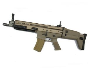 WE MK16-L Tan Open Bolt GBBR