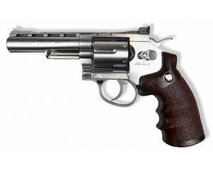 WinGun 6mm 4' Revolver (Co2) Silver/WD